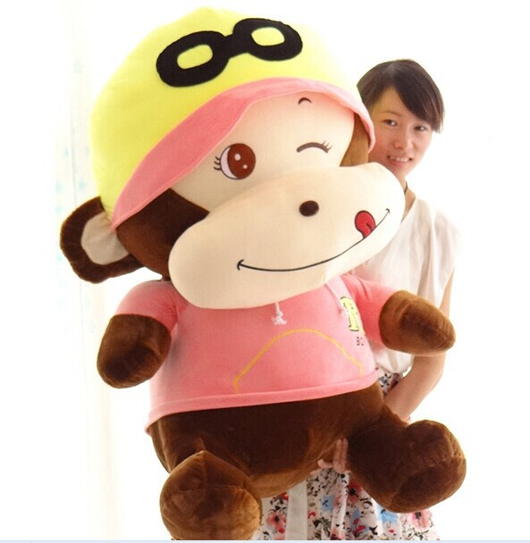 huge pink monkey doll big lovely plush monkey toy The glad eye monkey doll happy monkey