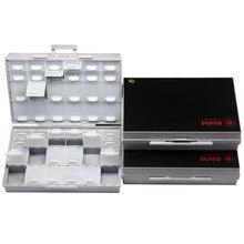 AideTek 3 блока коробок 48 крышек пустой корпус SMD SMT Органайзер поверхностное крепление DE UK корабль пластиковая часть коробки этикетки 3BOXALL48