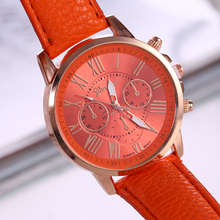 2019 Brand Geneva Watches Women Men Casual Roman Numeral Watch For Men Women PU Leather Quartz Wrist Watch Relogio Clock roman numeral faux leather strap watch