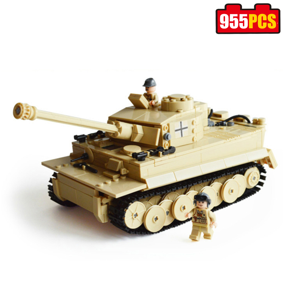 995pcs KAZI German King Tiger Tank Model Century Military Building Blocks Compatible legoed Enlighten Bricks Toys for children купить