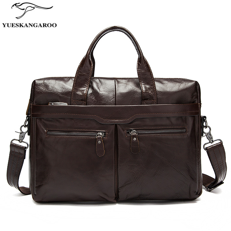 Genuine Leather Bag Men Bag Cowhide Men Crossbody Bags Men's Travel Shoulder Bags Tote Laptop Briefcases Handbags 9005 yishen genuine leather bag men bag cowhide men crossbody bags men s travel shoulder bags tote laptop briefcases handbags bfl 048