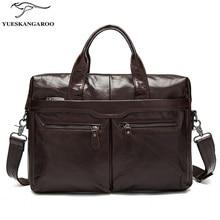 Genuine Leather Bag Men Bag Cowhide Men Crossbody Bags Men's Travel Shoulder Bags Tote Laptop Briefcases Handbags 9005