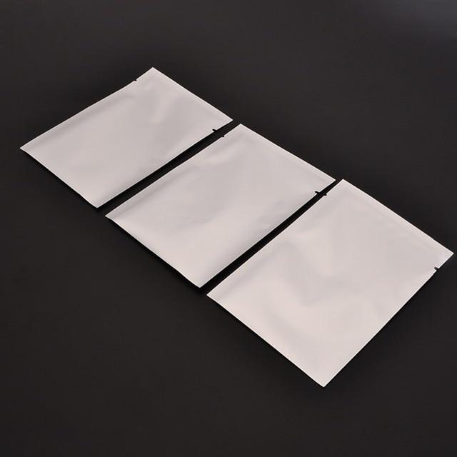 100 pçs/lote Aferidor Do Vácuo Sacos de Zipper Sacos De Armazenamento De Alimentos Da Folha De Alumínio Mylar de Prata Para Casa Cozinha Ferramentas Acessórios