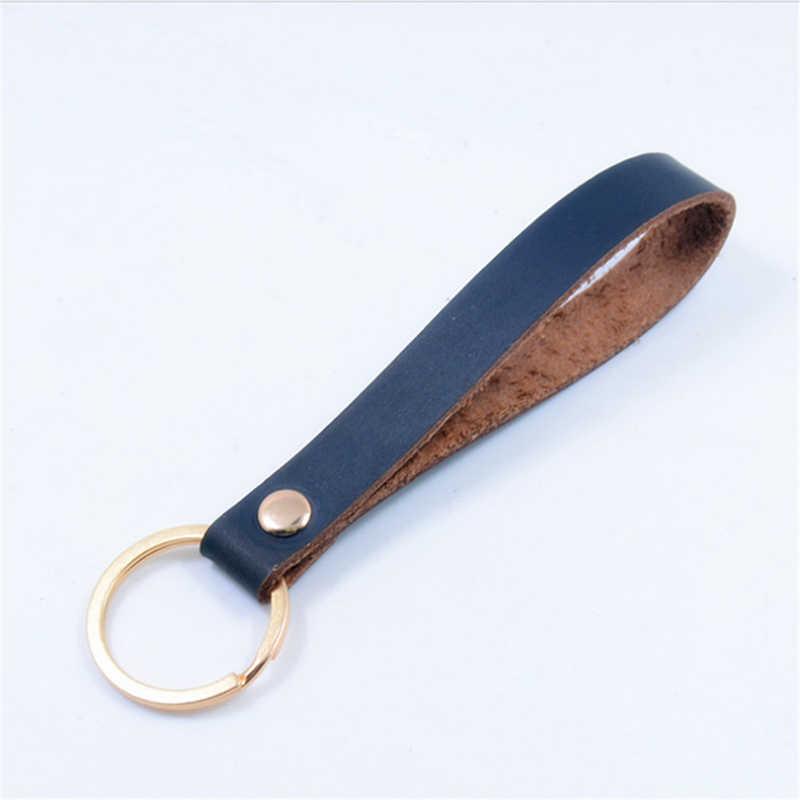 Yaratıcı cep yüzük deri anahtarlık kahya tuşları cüzdan anahtarlık kapakları organizatör akıllı anahtar cüzdan kılıf anahtarlık çanta