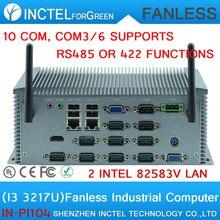 Производители питания Core I3 3217U все алюминиевые безвентиляторный промышленный компьютер IPC с 10 RS232 двойной VGA поддержка Watchdog 3 Г GPIO
