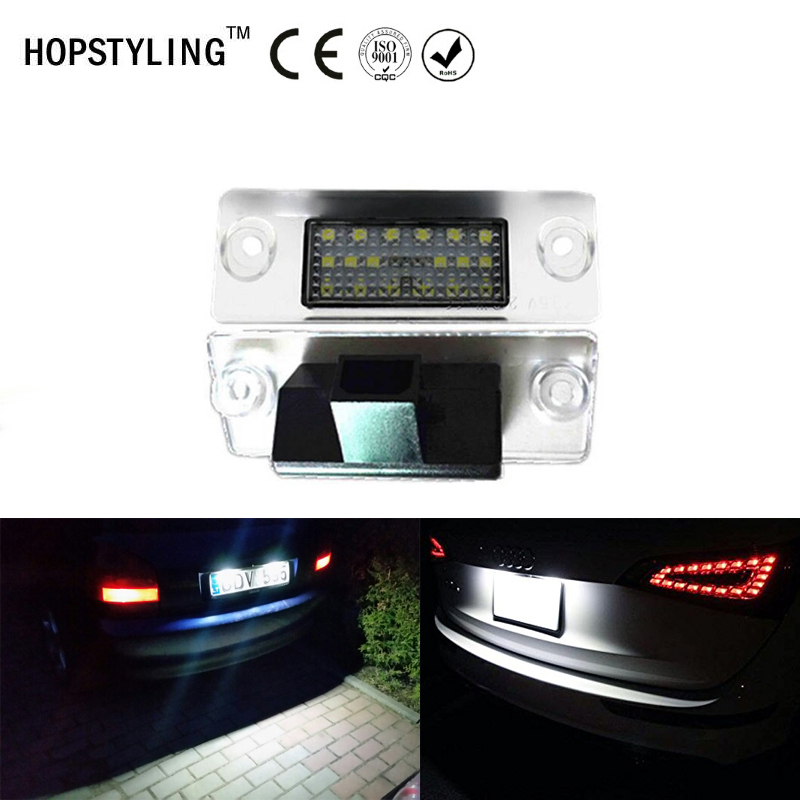 Car styling No Error LED license plate light For Audi A4 B5 A3 8L Facelift 1996~2000 auto tail number plate lamps 2x c5w 36mm festoon led canbus car interior reading license plate light no error for bmw audi vw porsche mercedes