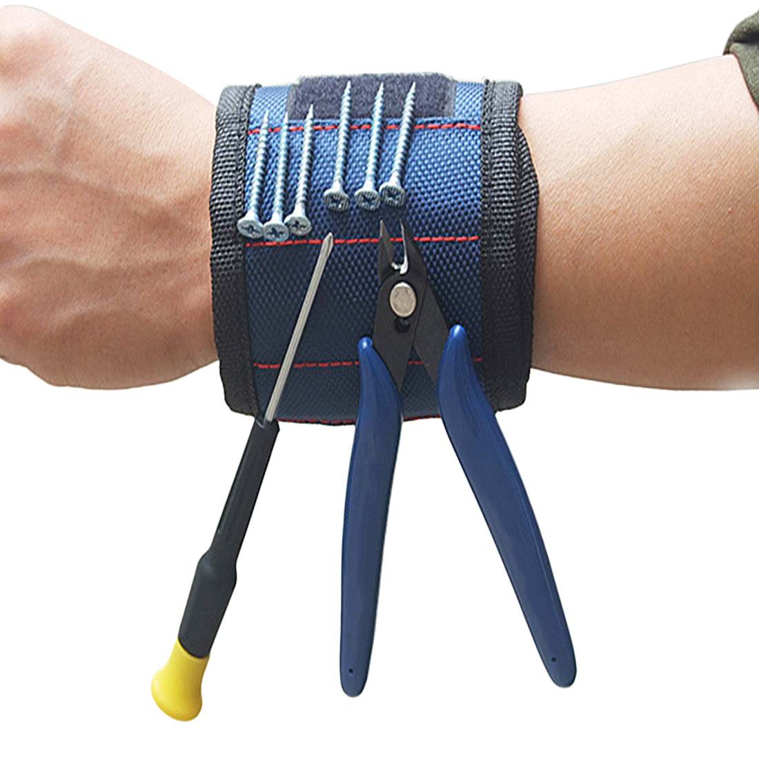 Adjustable Magnetic Wrist Support Band With Strong Magnets For Holding Screws Nail Bracelet Belt Support Chuck