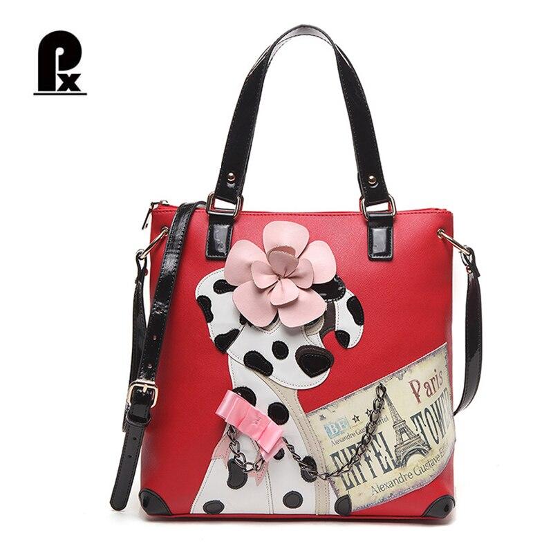 Borse Braccialini Black Friday : New luxury brand women leather handbags cartoon black big