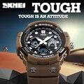 Новый 2017 SKMEI Марка Мужчины Спортивная S-Shock Часы Мужские Кварцевые Цифровые Часы Открытый Военный Противоударный Водонепроницаемый Наручные Часы