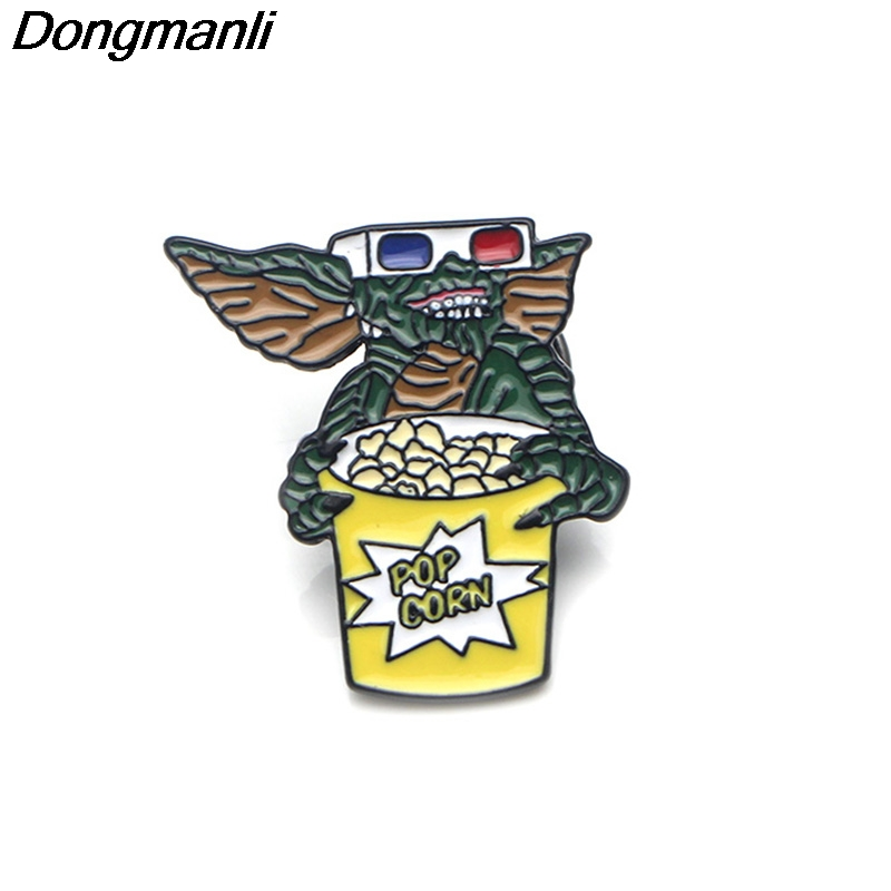 P3678 Wholesale 20pcs lot Gremlins Cute Metal Enamel Pins and Brooches for Lapel Pin Backpack Bags