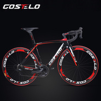 2018 Full Carbon Fiber Costelo Road Bicycle Carbon Bike DIY Complete Bicycle Completo Bicicletta Bicicleta Completa