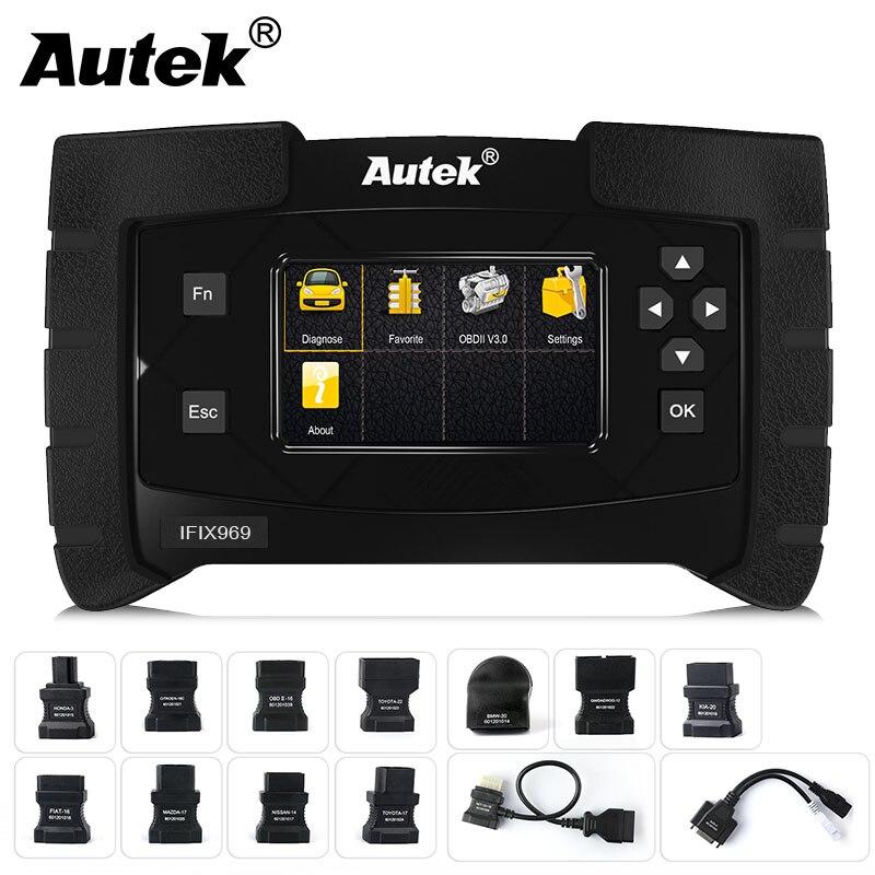 Autek IFIX-969 OBD2 OBDII Automobile Scanner Système Complet pour Transmission ABS Airbag SAS Moteur EPB Vérifier Réinitialiser Scanner Outil
