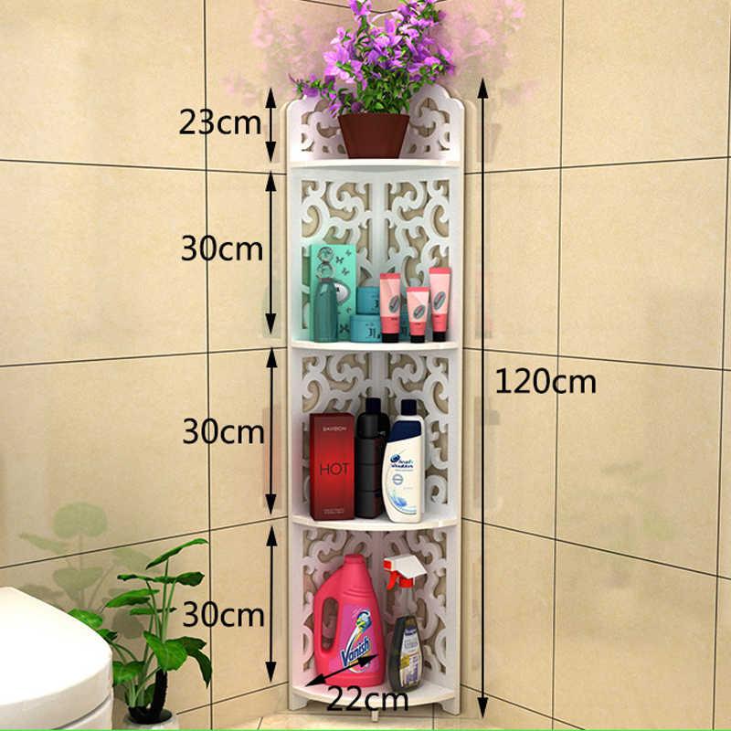 All Sizes Bathroom Storage Shelves Toiletries Plants Shoes Sundries Storage  Rack Waterproof Bathroom Corner Cabinet Shower Shelf