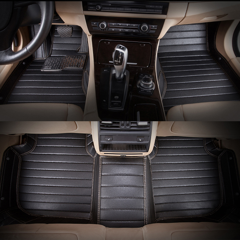 5seats LHD full surrounded waterproof non slip car floor mats for Sienna Senna  version left wheel driving