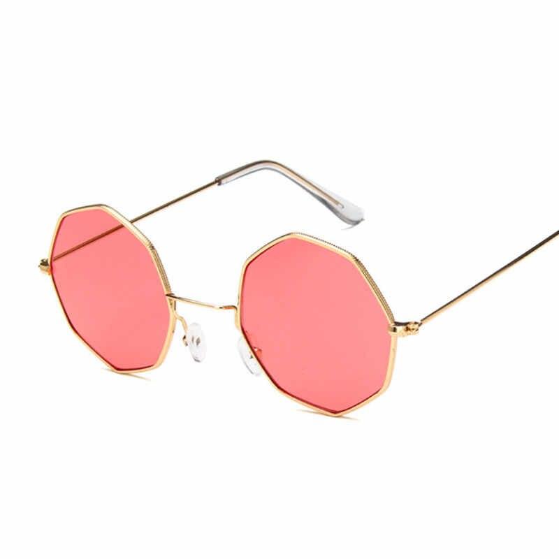 Gafas Vintage Redondo Pequeñas Sol Vidrio Rojo Mujer Steampunk Hombres Amarillo De Espejo Claro Para Ovalado Octágono Hexagonal gYv6bIf7y