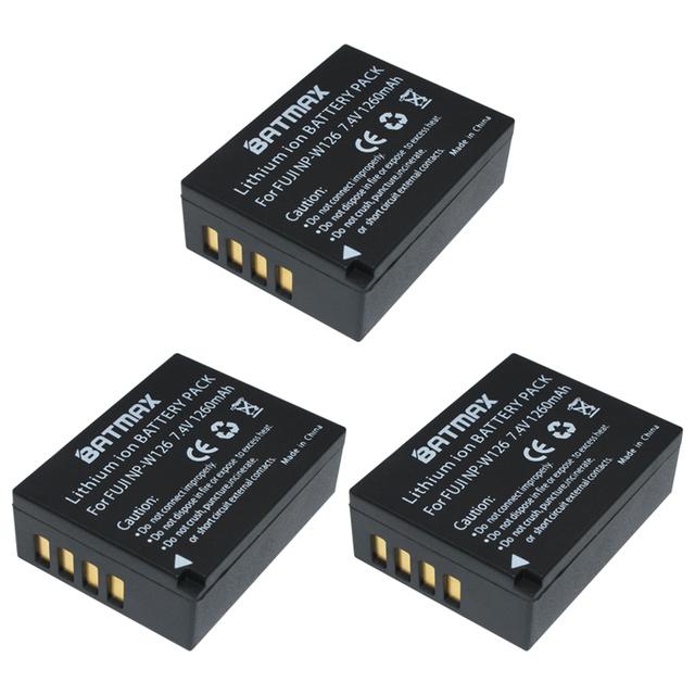 3x 1260mAh NP-W126 NP W126 NPW126 Batteries& Dual USB Charger for Fujifilm Fuji X-Pro1 XPro1 X-T1 XT1, HS30EXR HS33EXR X PRO1