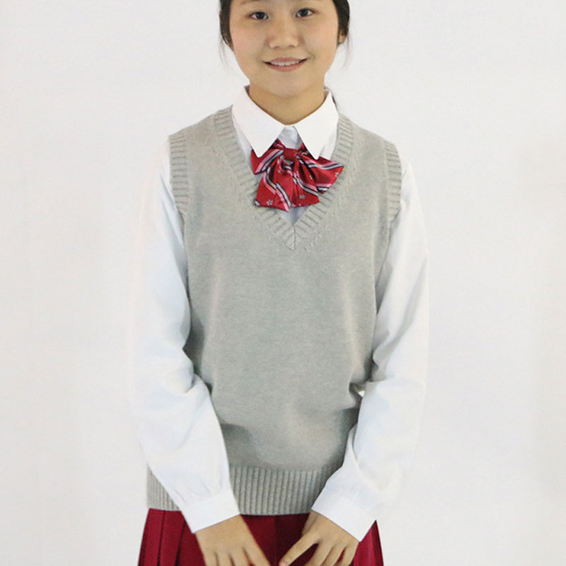 Japanese School Uniform Vest Sweater Women 2018 Spring Winter New Fashion Female V-neck  ...