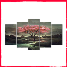 Modular Pictures Wall Art HD Prints 5 Pieces Canvas Painting Tree For Living Room Frame Home Decoration Artwork Poster Abooly