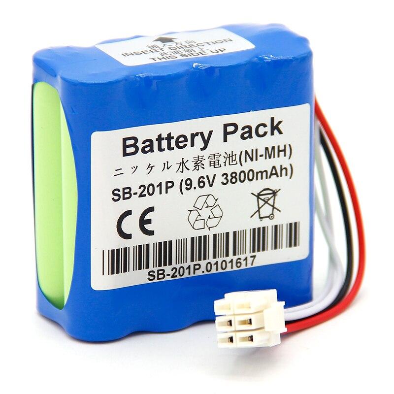3800mAH New Electrocardiogram (ecg) battery for Nihon Kohden PVM-2700 PVM-2703 PVM-2701 SB-201P X076