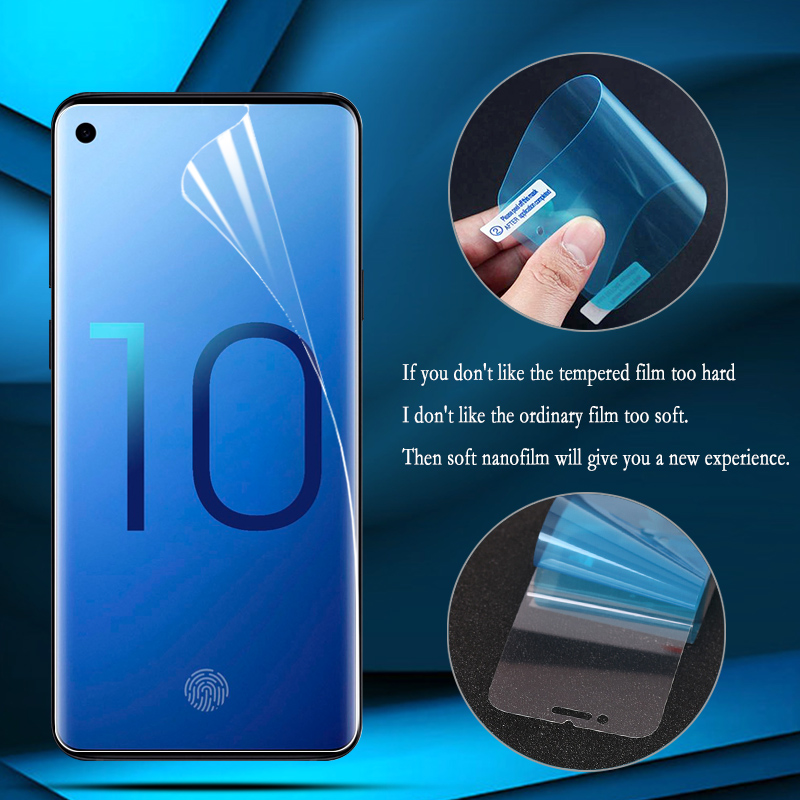 Nano Explosion-proof Film Foil For Samsung Galaxy A30 A40 A50 A70 Screen Protector On Samsung M10 M20 M30 Film Not Glass