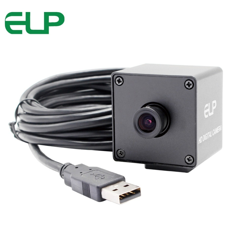 ELP 5MP CMOS OV5640 Omnivision No Distortion Lens CCTV Surveillance Board Camera Auto Focus Mini Usb Webcam Camera Autofocus