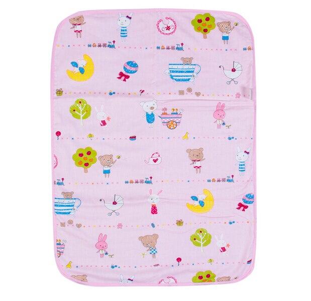 pink waterproof changing mat