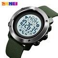 SKMEI спортивные Смарт-часы мужские часы водонепроницаемые стальные кольца Bluetooth Магнитный Chargeing электронный компас reloj inteligent 1511