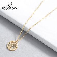 Todorova маленькая круглая волейбольная Подвеска Ожерелье для женщин и мужчин ювелирные изделия спорт Шарм Volley мяч спорт вентилятор подарки