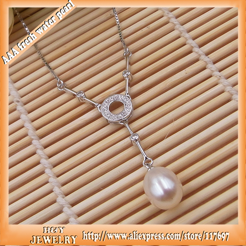 Natural Pearl Necklace for women with 9.5mm freshwater pearl Chain length 40cm to 45cm adjustable 100% pure silver jewelry seet hardlife 1 0 27 5 21s ty300 40cm 4165021740