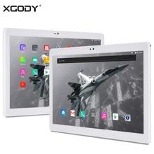 Original XGODY T1004 10.1 Pulgadas Llamada de Teléfono 4G LTE Tablet Android 7.0 MTK6753 Octa Core 2G + 32G 1920*1200 FHD IPS 10 pulgadas Tablet