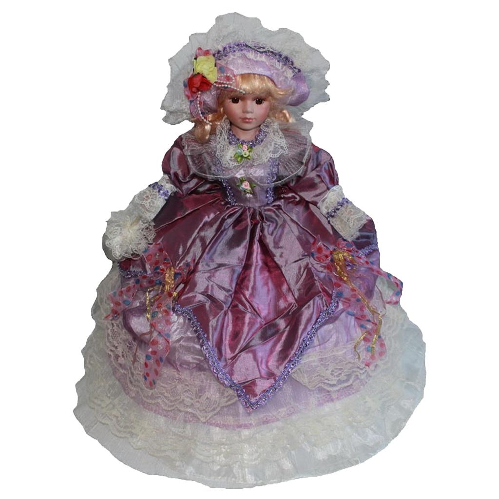 Handcrafted Delicate 18inch Victorian Porcelain Dolls Elegant Women Figures Collectibles Beautiful Figurines Desktop Ornament