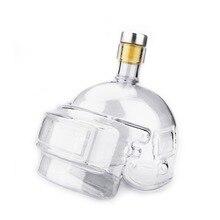 Дизайн, винный горшок, шлем, водка, бутылка для виски, стеклянный кувшин, домашний бар, игра, игрушка, графин, кувшин, высокое боросиликатное