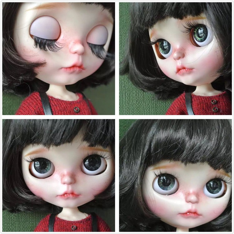Neo Blythe Doll with Brown Hair, White Skin, Matte Face & Jointed Body 2