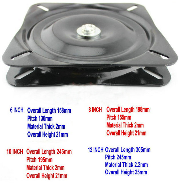 Wholesale 6Inch(150MM) Black Lacquer Baked and Solid Steel Ball Bearing Lazy Susan,Swivel Plate, Swivel Turntable Lazy Susan