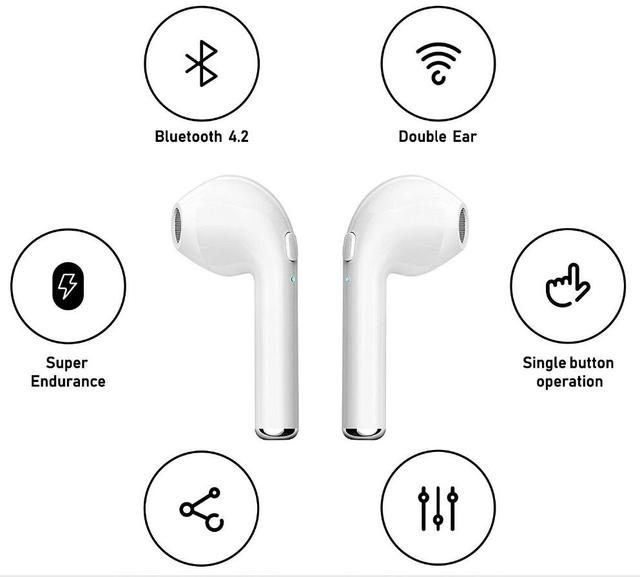 factory i7s TWS Mini Wireless Bluetooth Earphone Stereo Earbud Headset With Charging Box Mic For All Smart phone