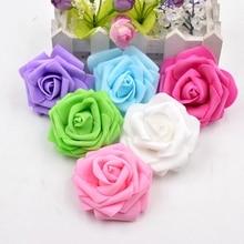 100 шт. большие пены Handmake искусственный цветок голову Свадебные украшения DIY ВЕНОК подарочной коробке Скрапбукинг Craft поддельные цветок