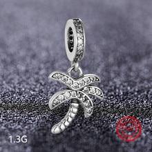 925 sterling silver tree cross beads Charm Suitable for Pandora original charm bracelet DIY jewelry production stylish cross velvet charm bracelet