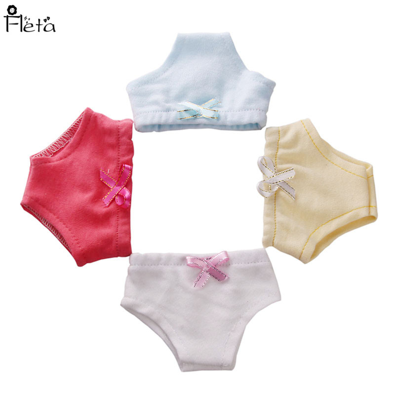 Fleta new 43cm baby born doll or 18inch american girl doll clothes 4 color Underpants for zapf doll b194-197 rose christmas gift 18 inch american girl doll swim clothes dress also fit for 43cm baby born zapf dolls