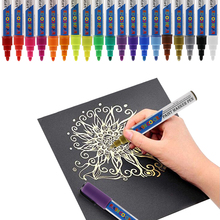 oil based paint markers ASTM D-4236 and EN71 Artist quality 19 colors sharpie oil based paint markers