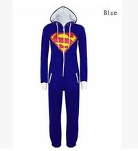 Halloween Party Cosplay Costumes Unisex Pyjamas Adult Pajamas Onesie Men Women Batman Superman One Piece Sleepsuit Sleepwear
