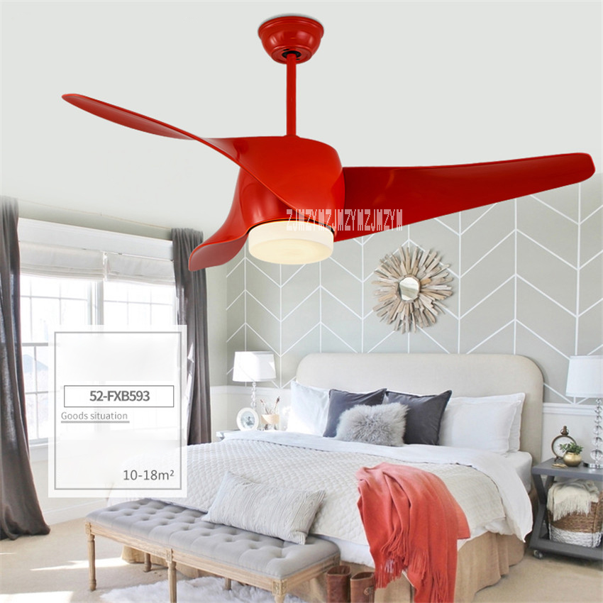 Ceiling Fan Variable Frequency Led Light 52 Inch European Living Room Fan Lamp 3 Leaves 5 Stalls Remote Control 110-240v 15-75w Easy To Use Ceiling Lights & Fans