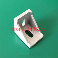 100pcs 3030 Corner Bracket Fittings 30 30Corner Angle L Breakets Connector Aluminum Profile Accessories