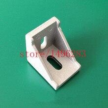 100 шт. 3030 угловые кронштейны, фитинги 30*30 Угловые L образные соединители, алюминиевые аксессуары для профиля