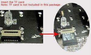 Image 5 - חדש עבור TF כרטיס 3D 8 8x8x8 מיני ססגוניות mp3 מוסיקה אור cubeeds ערכת מובנה מוסיקה ספקטרום, led אלקטרוני ערכת diy