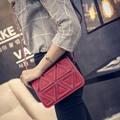 Korean Leather Square Triangle Stitching handbag Package Single Shoulder crossbody Flap Bag Individual Trend Hot Selling
