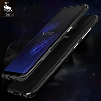 LUPHIE For Samsung Galaxy S8 Plus Case Original Luxury Ultra Thin Aircraft Aluminum Metal Frame For