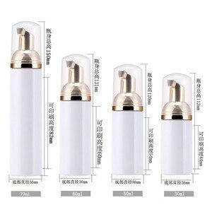 Image 4 - 10 adet 30 60ml plastik köpük pompa şişesi boş yüz Lashes temizleyici kozmetik şişe sabunluk köpük şişesi gül altın köpük