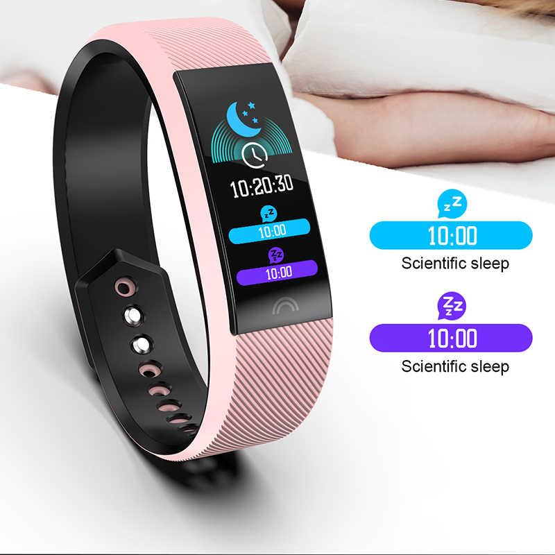 BANGWEI חכם שעון גברים נשים LED צבעוני תצוגת מגע מסך דם לחץ כושר גשש ספורט שעון גברים עבור אנדרואיד ios
