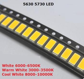200 sztuk SMD 5730 dioda biała SMD5730 0 5W LED 5630 6000k 6500k Super jasny układ SMD5630 5730SMD 150mA PCB SMT dioda emitująca tanie i dobre opinie YUFO-IC CN (pochodzenie) Nowy cx-ba cx-vb cx-ab cx-diode cx-bv 3 3 V Other