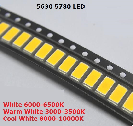 Careful 100pcs Smd Plcc Led 5050 White Ultra Bright 15-18lm 60ma 3v Surface Mount Smt Chip Led Smd5050 Light Emitting Diode Lamp Led5050 Excellent Quality Electronic Components & Supplies